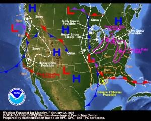 Map of High/Low air pressures