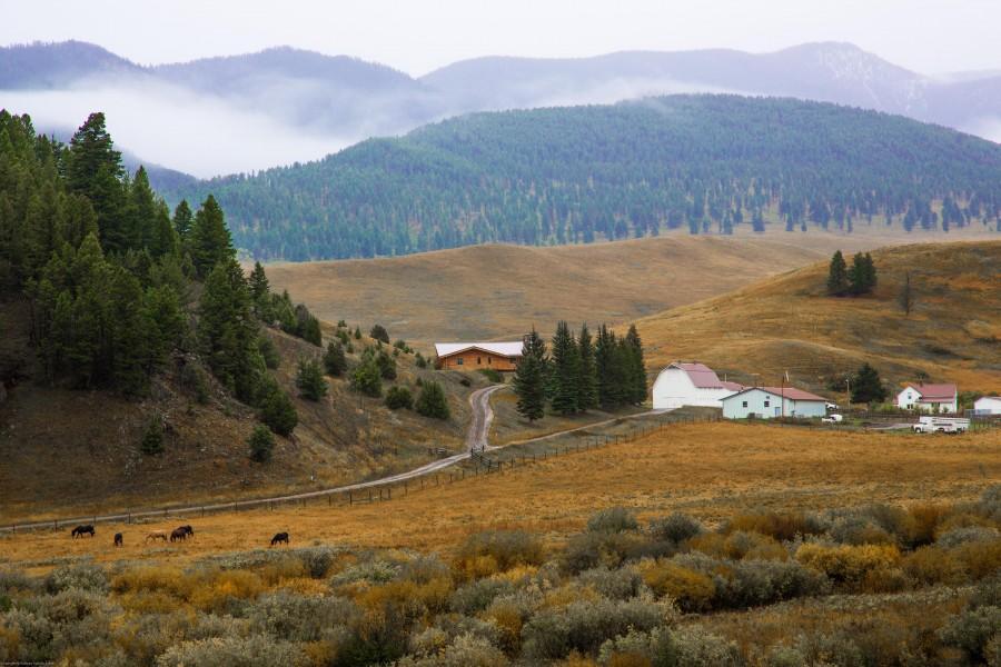 Ted Turner Ranch in the Spanish Peaks, Gallatin Range, Bozeman, MT