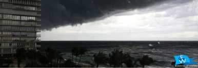 Squall Line as seen from Lauderdale-By-The-Sea | Photo by Weather Forecast Solutions