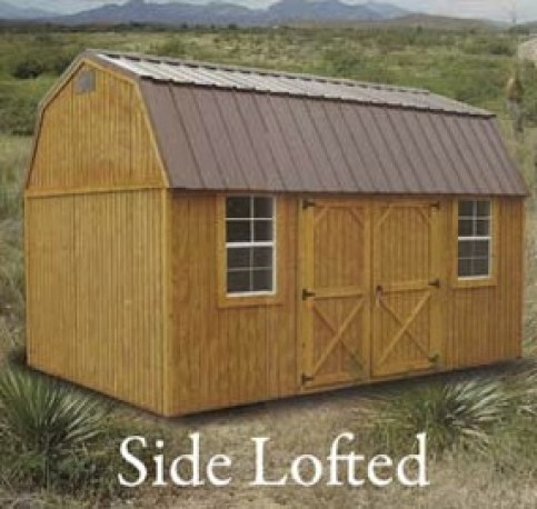 side-lofted barn Weatherking