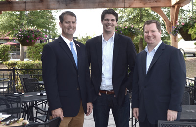 State Senator-Elect Michael Williams, political consultant Seth Weathers and radio talk show host Erick Erickson.
