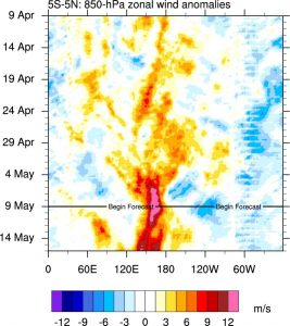 A powerful westerly wind burst--the strongest and most persistent since 1997--is currently ongoing in the West Pacific. (SUNY Albany)