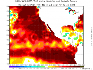 The entire northeastern Pacific is experiencing extraordinary, record-breaking warmth. (NOAA)