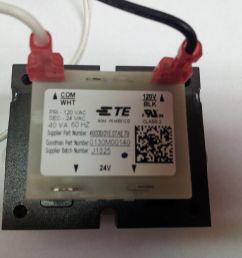 goodman 0130m00140 120v to 24v 40va transformer b1141605 oem warranty [ 1600 x 1200 Pixel ]