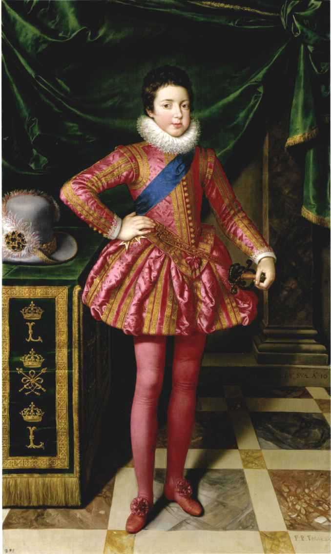 Louis as a child by Frans Pourbus the Younger