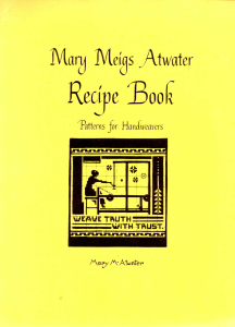 Mary Meigs Atwater Recipe Book Cover