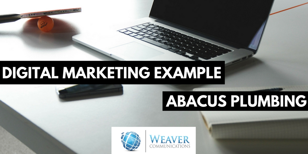 Abacus Plumbing Example in Digital Marketing Strategy