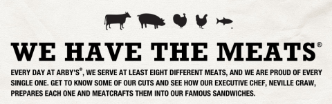 we have the meats arbys branding