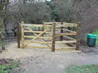 Gate installed
