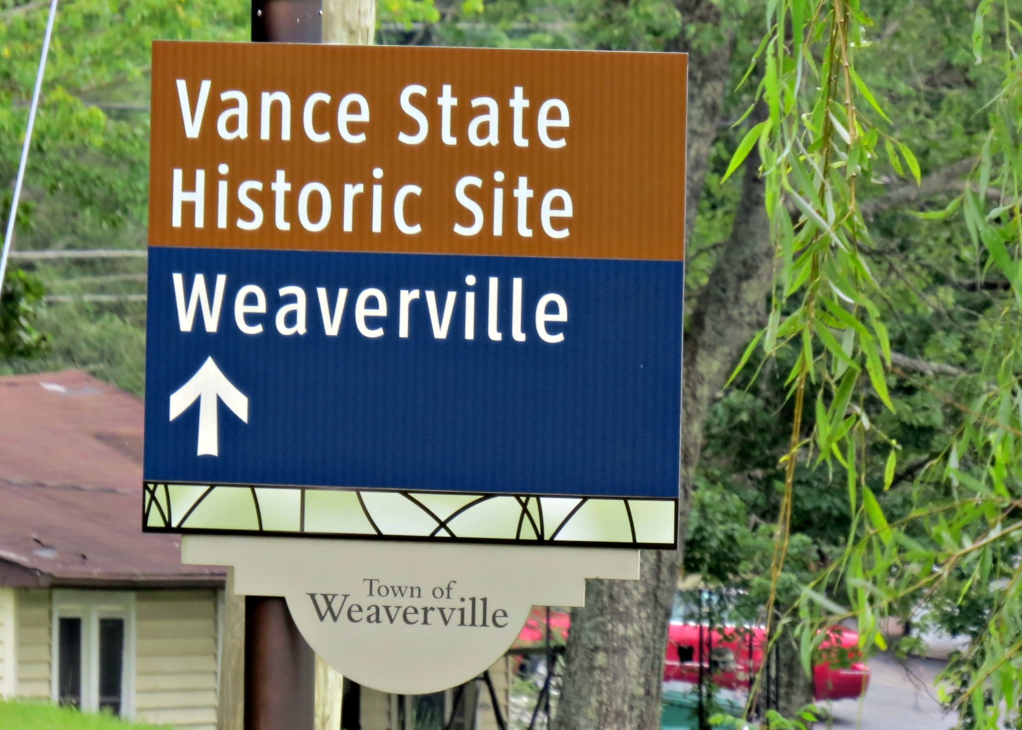 Town Of Weaverville NC Wayfarer Sign