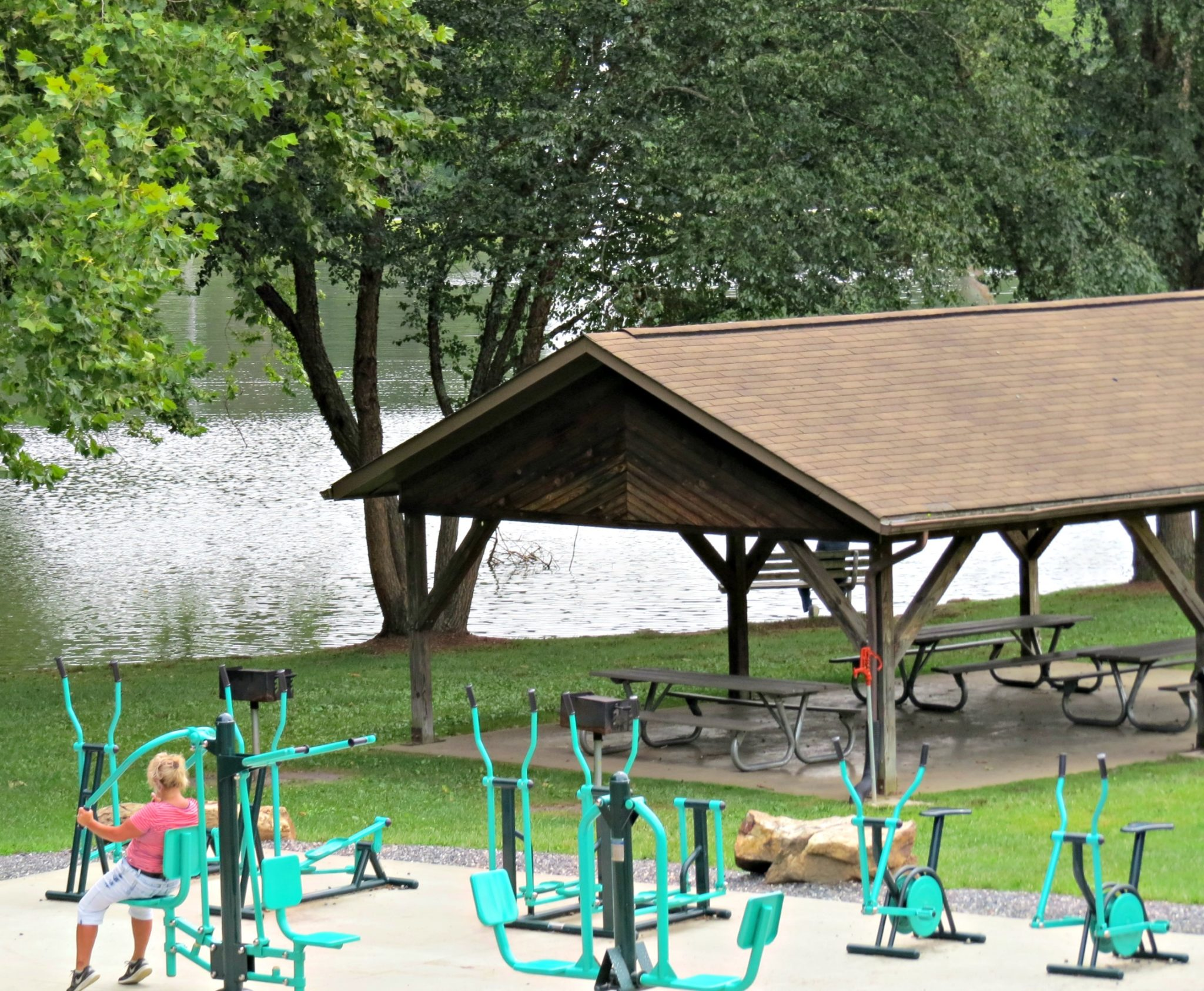 Town Of Weaverville NC Outdoor Exercise Lake Louise Park
