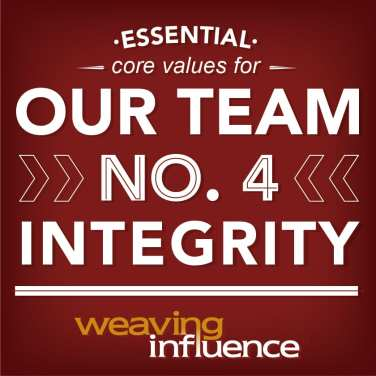 Living Our Core Values: Integrity