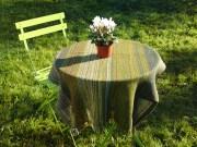 Alpaca and Shetland table cloth