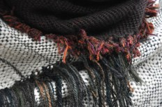Bog Cotton cape with Peat Sphagnum snug