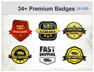 34+ Premium Badges Bundle