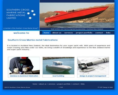 Southern Cross Marine Metal Fabrication website project