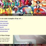 Anando ArtAttack ArtAttack page displaying art work;