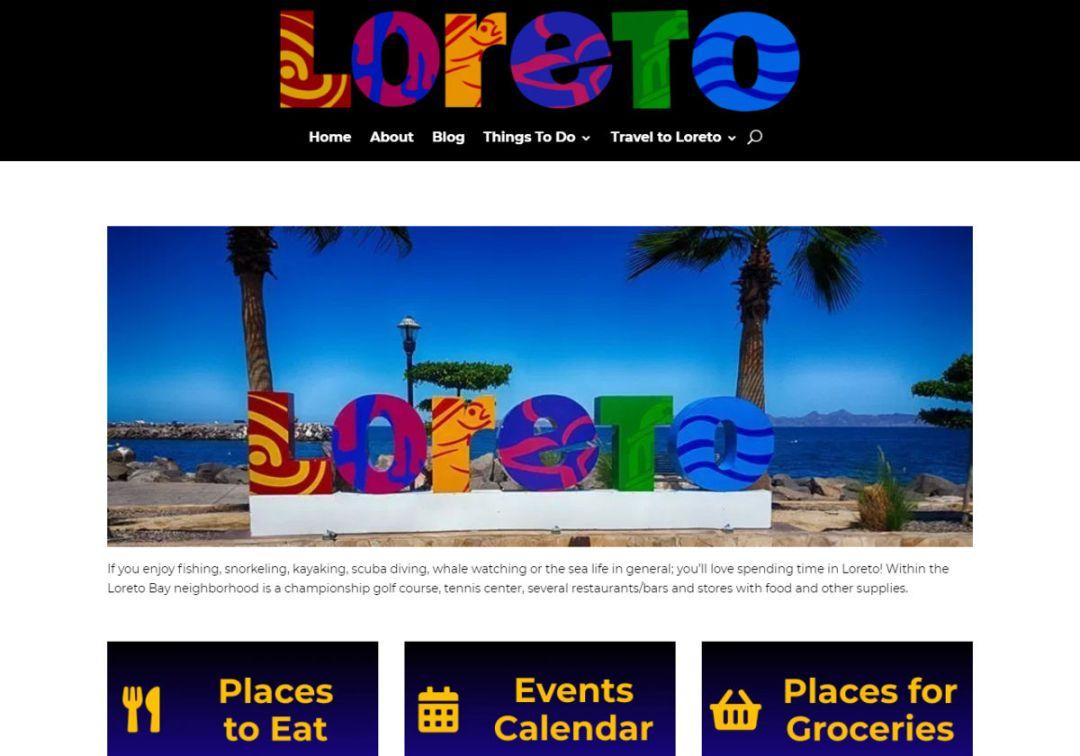 Loreto Mexico Info Web Site