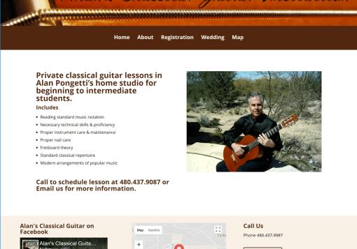Alan's Classical Guitar Web Site