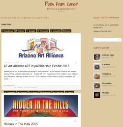 Soaring Spirit Studios Events Page After
