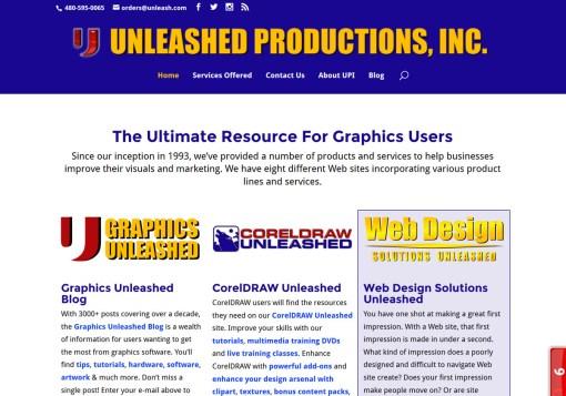 Unleashed Productions Inc. Web Site