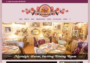 English Rose Tea Room Web Site
