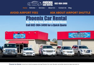 Phoenix Car Rental Web Site