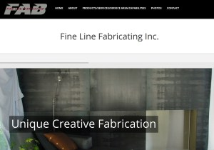 Fine Line Fabricating Web Site