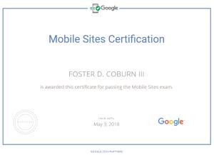 Google Mobile Sites Certication