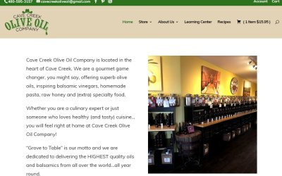 Giving Olive Oil Site a Tasty Makeover