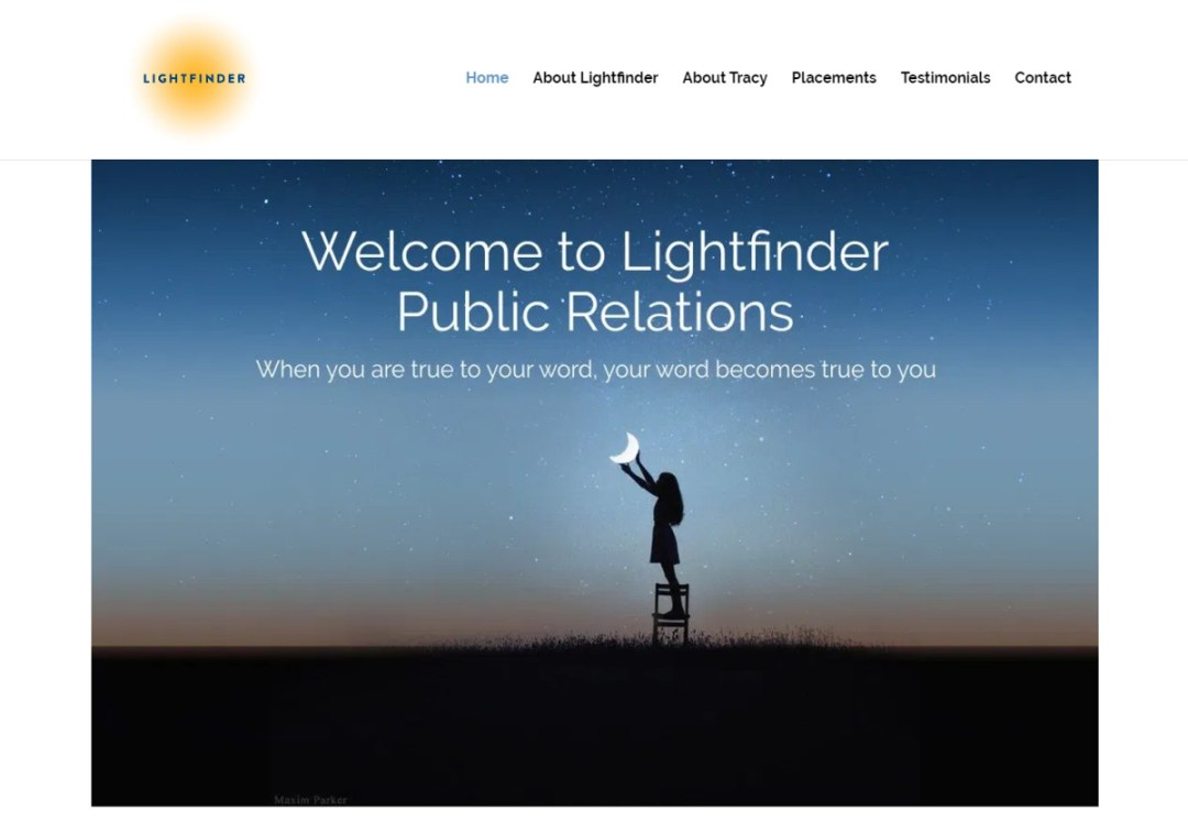 Lightfinder PR Web Site