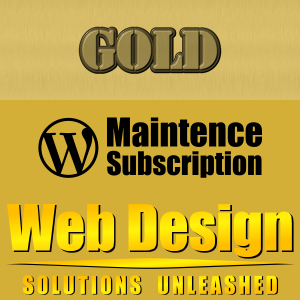 WordPress Maintenance Gold Subscription