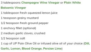 Cave Creek Olive Oil Ingredient List