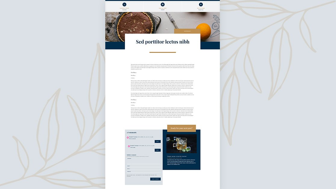 Download a FREE Blog Post Template for Divi's Bistro Layout Pack