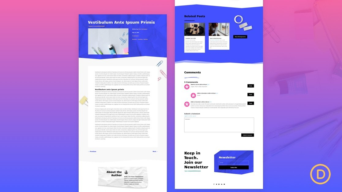 Get a FREE Blog Post Template for Divi's Classroom Layout Pack