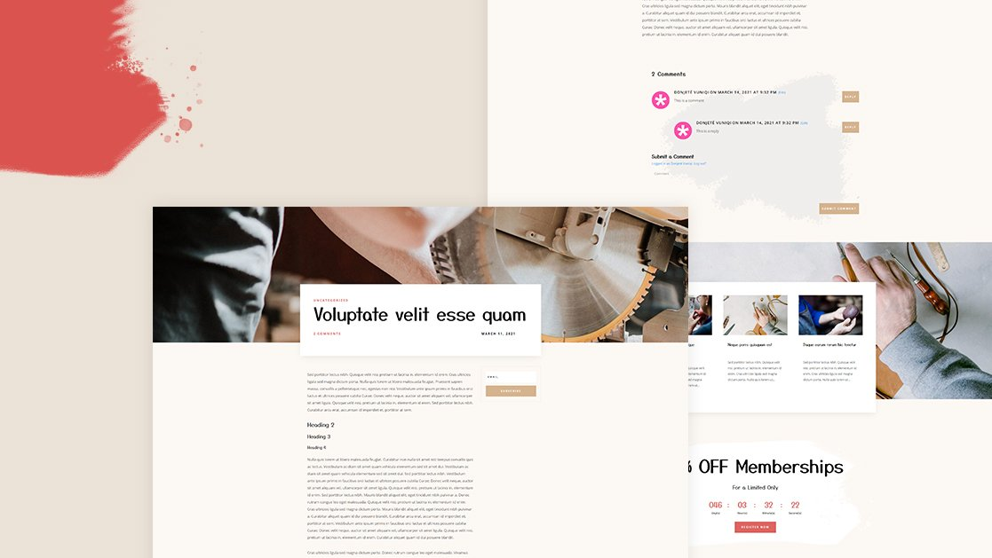 Download a FREE Blog Post Template for Divi's Craft School Layout Pack