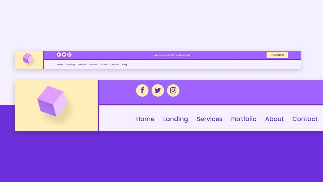 How to Make Your Logo Cross The Primary & Secondary Menu Bars Inside Your Divi Header