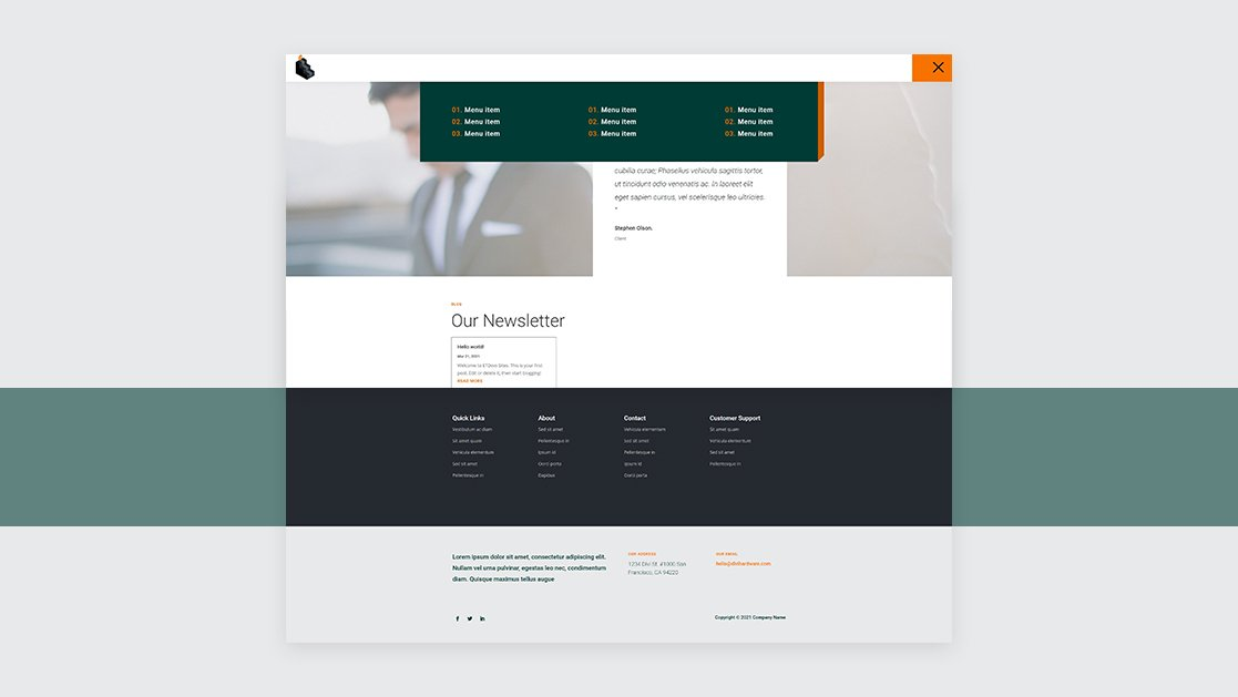 Download a FREE Header & Footer for Divi's Personal Loan Layout Pack