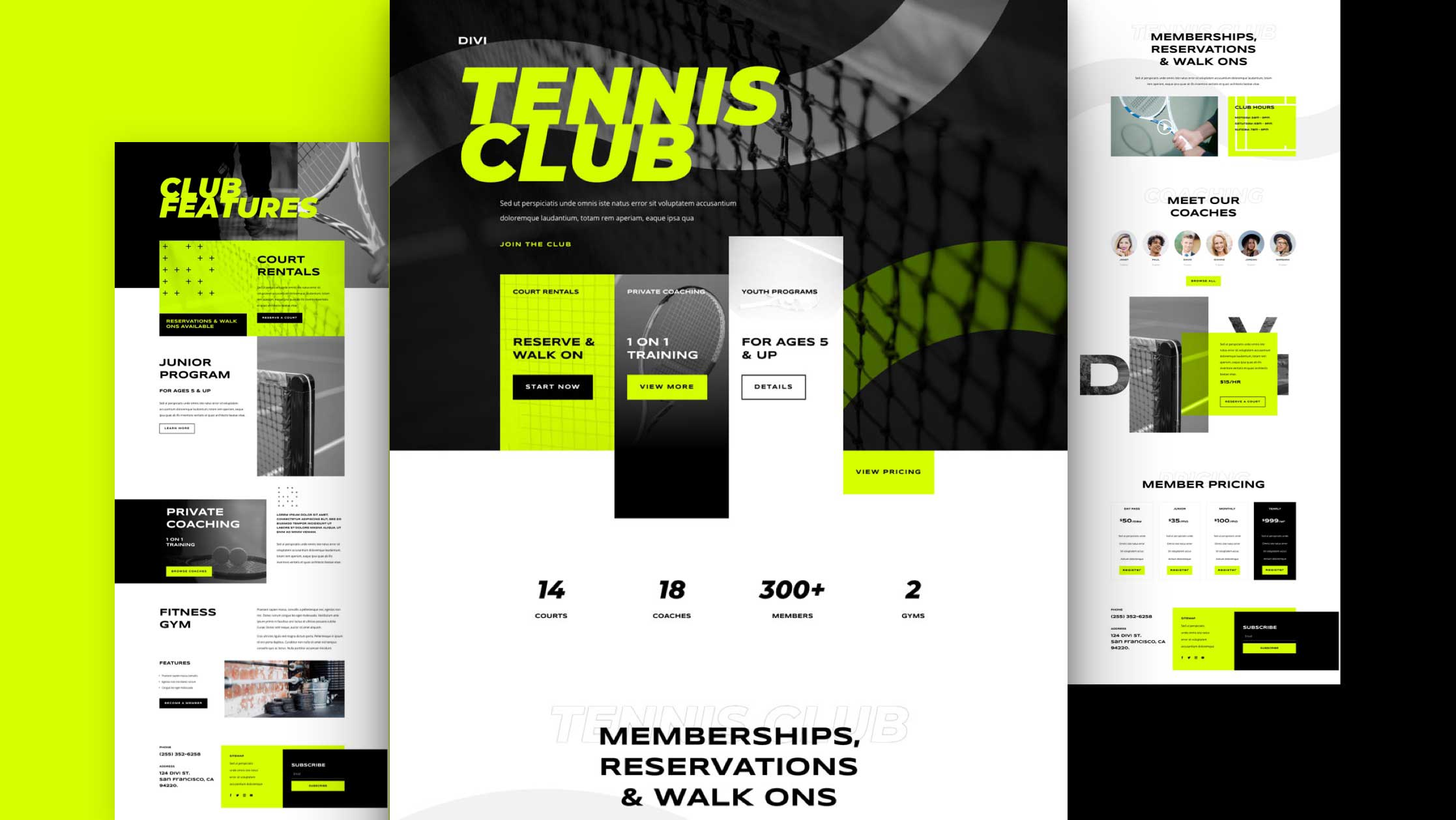 Get a FREE Tennis Club Layout Pack for Divi
