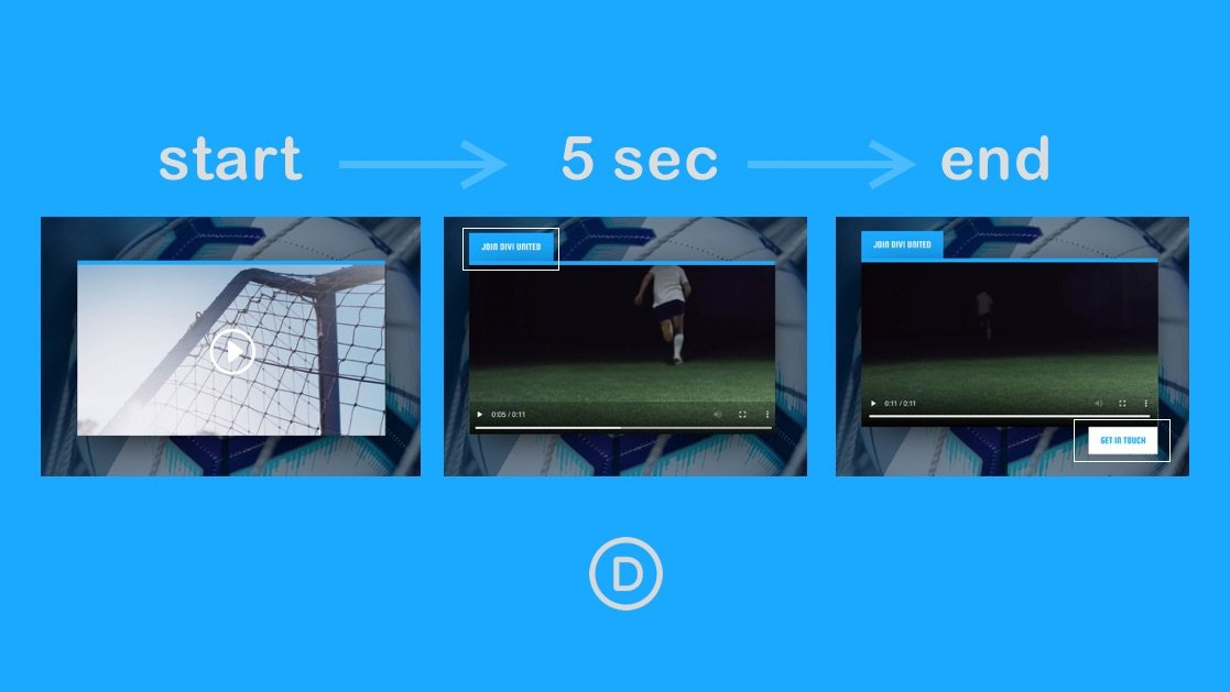 How to Show Buttons (or CTAs) at Specific Times when Playing an HTML Video in Divi