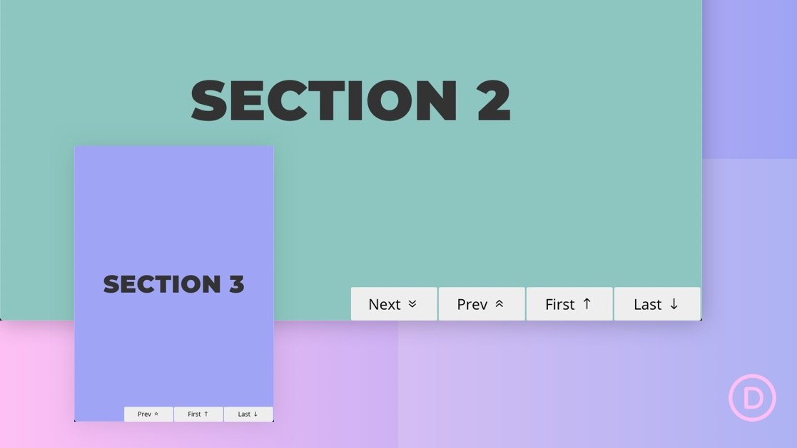 How to Add Sticky Page Navigation Links (Next, Previous, First, Last) to Divi Sections
