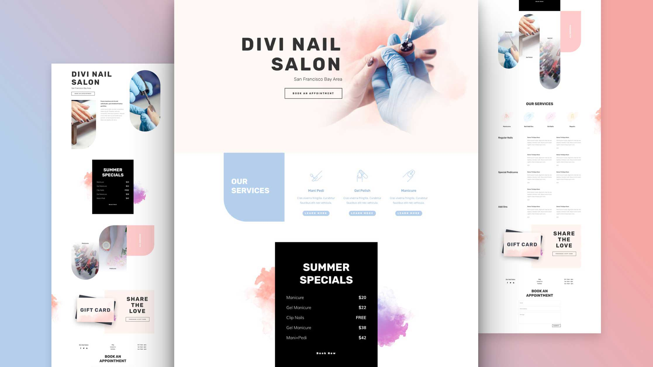 Get a FREE Nail Salon Layout Pack for Divi