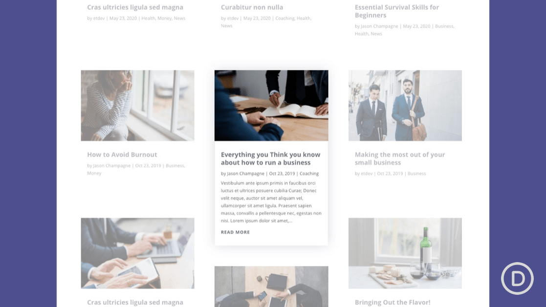 How to Toggle Blog Post Excerpts on Hover in Divi