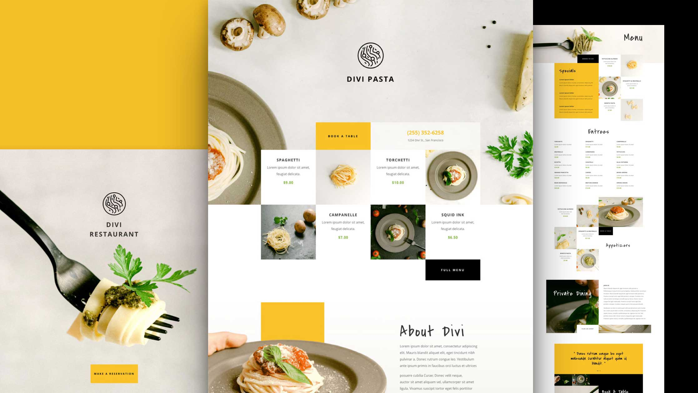 Get a FREE Italian Restaurant Layout Pack for Divi