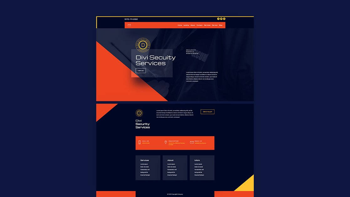 Download a FREE Header & Footer for Divi's Security Services Layout Pack