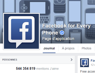 j'aime des top pages N°1 FACEBOOK FOR EVERY PHONE