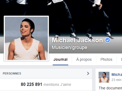 j'aime des top pages N°12 MICHAEL JACKSON