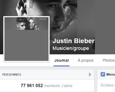j'aime des top pages N°14 - JUSTIN BIEBER