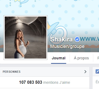 j'aime des top pages N°4 SHAKIRA
