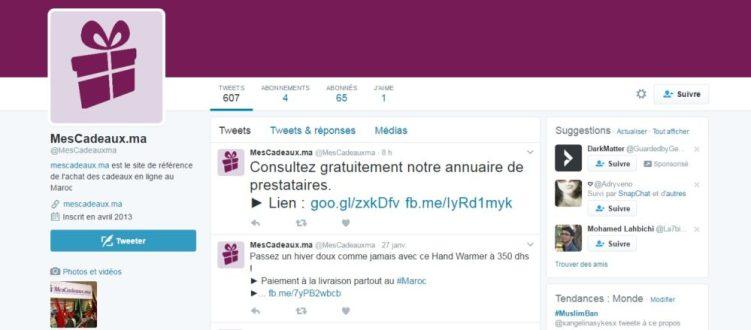 Twitter Mescadeaux.ma